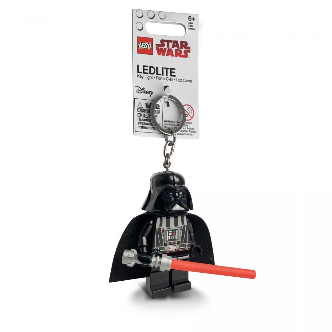 LEGO, Brelok do kluczy z latarką - Star Wars Darth Vader z mieczem świetlnym